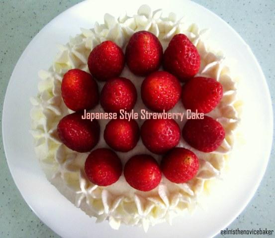 japanese style strawberry cake